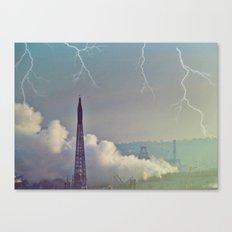 Lightning Strikes Canvas Print
