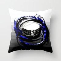 drum Throw Pillows featuring Music - Drum by yahtz designs