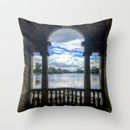 View from an Arch Throw Pillow
