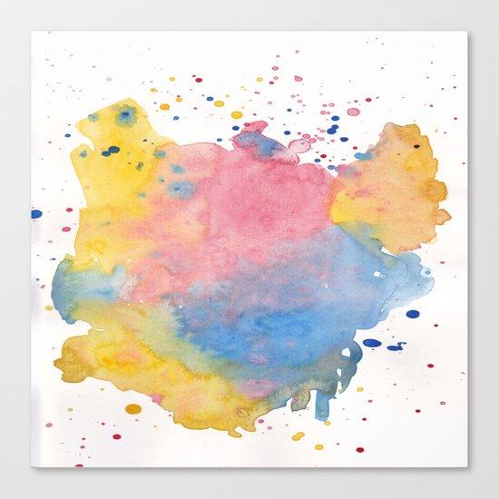 RAINBOW SPLATTER Canvas Print