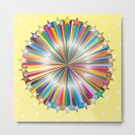 Multi Color Circle of Color Metal Print