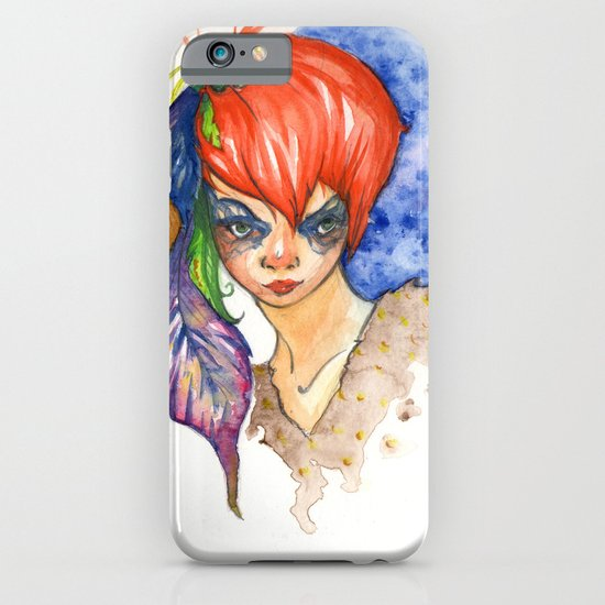 red head and feathers iPhone & iPod Case