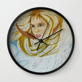 The Princess-Swan from the Russian fairytale (oil painting). Wall Clock