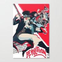 revolution Canvas Prints featuring Revolution! by yamineftis