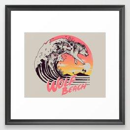 Wolf Beach Framed Art Print