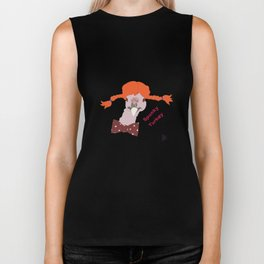 Spunky Turkey Orange Hair TX Biker Tank