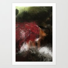 Cold visit Art Print