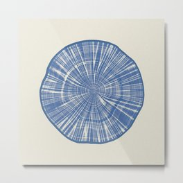 ANNUAL RINGS BLUE Metal Print