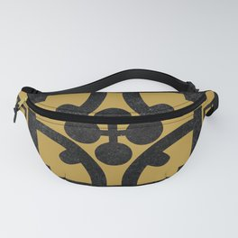 Traditional Yellow English Tudor Half-timbered House Pattern Fanny Pack