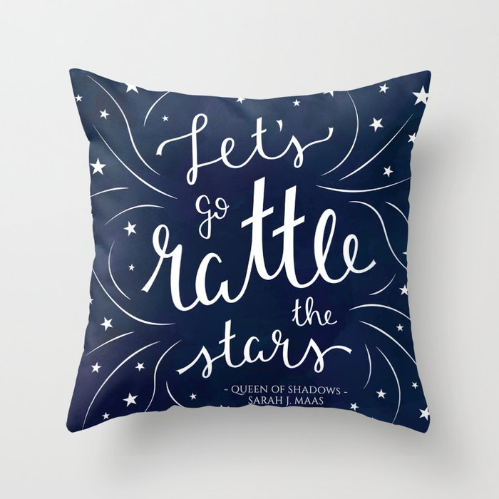 Let's go Rattle the Stars Throw Pillow
