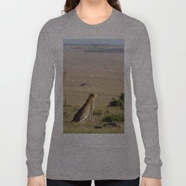 Two cheetahs on the look out Long Sleeve T-shirt