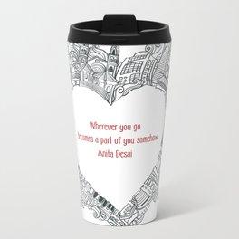 Wherever you go Metal Travel Mug