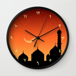 Arabic Evening Sky - Round Wall Clock Wall Clock