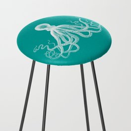 Octopus | Teal and White Counter Stool