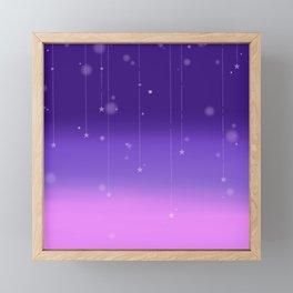 Wish Upon A Falling Star Framed Mini Art Print