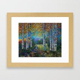 Nocturne Blue - Palette Knife Framed Art Print