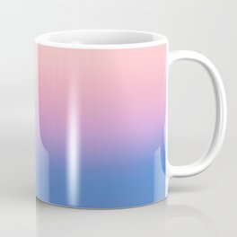 Ombre, Blue, Pink, Abstract, Nature, Art, Modern, Wall art Print Coffee Mug