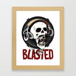 Blasted Skull Framed Art Print