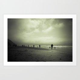 Zombie Apocalypse: The Beach Art Print
