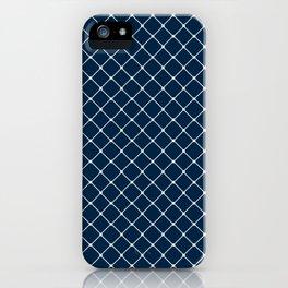 Blue Skies Classic Diagonal Grid iPhone Case