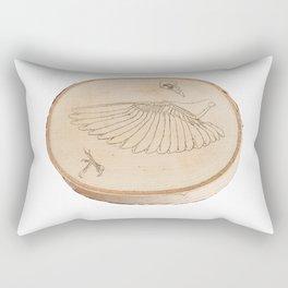 Bird Anatomy Wood Study Rectangular Pillow