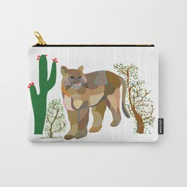 Mountain Lion in Desert Carry-All Pouch