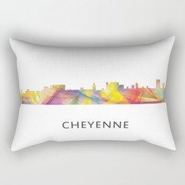 Cheyenne Wyoming Skyline BW1 Rectangular Pillow