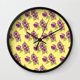 Jessica Pale Yellow Wall Clock