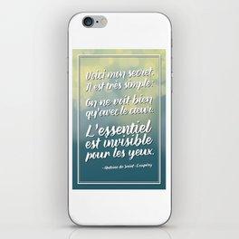 «Voici mon secret» Citation iPhone Skin
