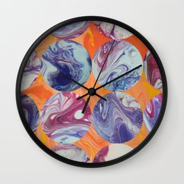 Marbles on My Floor Wall Clock