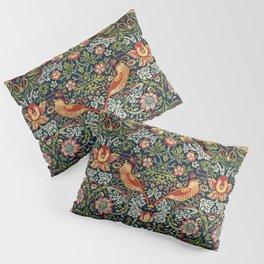 Strawberry Thief by William Morris 1883 Antique Vintage Pattern CC0 Spring Summer Pillow Sham
