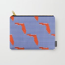 Florida university gators orange and blue college sports football stripes pattern Carry-All Pouch