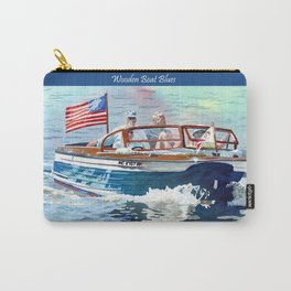 Wooden Boat Blues Carry-All Pouch