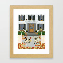 Autumn leaf game Framed Art Print