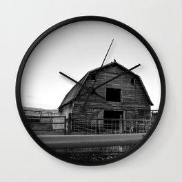 Grandpa's Barn Wall Clock