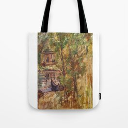 Temple in the Deep Forest in my village Tote Bag