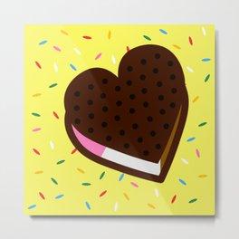 Heart Ice Cream Sandwich Metal Print