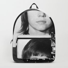 Jane Fonda Mugshot Vertical Backpack