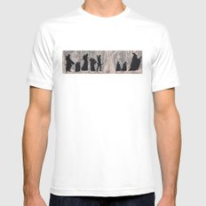On the way (The Fellowship of the Ring, LOTR) MEDIUM Mens Fitted Tee White