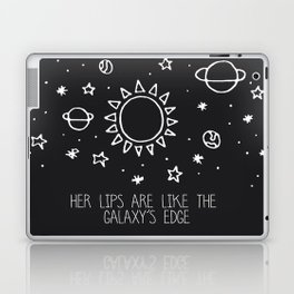 Her lips are like the Galaxy's edge Laptop & iPad Skin