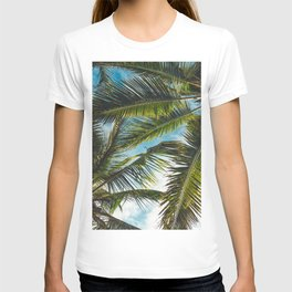 COCONUT TREE LEAVES UNDER BLUE SKY DURING DAYTIME T-shirt