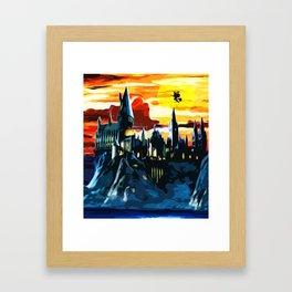 Last Horizon in Hogwarts Castle Framed Art Print
