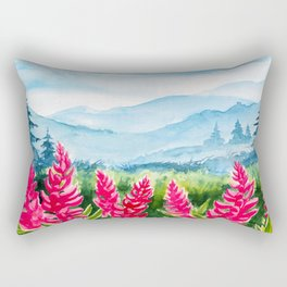Beautiful watercolour landscape Rectangular Pillow