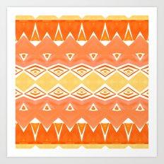 Geo Triangle Orange 2 Art Print