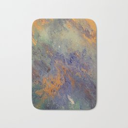 Earth Vibes,marble,wall art,art,artwork,gold,green,blue,white,paint mix,painting,acrylic pour,pretty Bath Mat