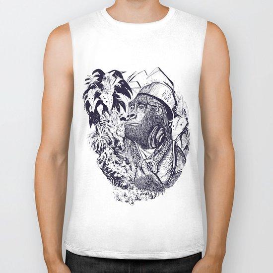 jungle kong Biker Tank