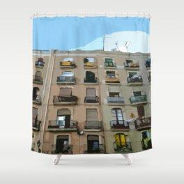 Barcelona Building  Shower Curtain