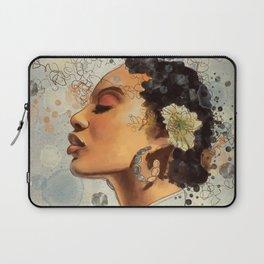 Watercolor whimsical digital portrait painting Laptop Sleeve