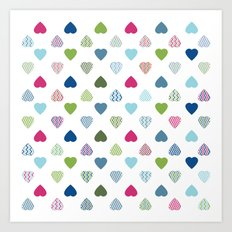AFE Colorful Hearts Art Print