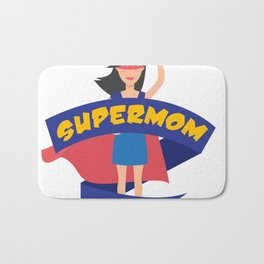 Supermom Hero Mothers Day Gift - Shirt Bath Mat